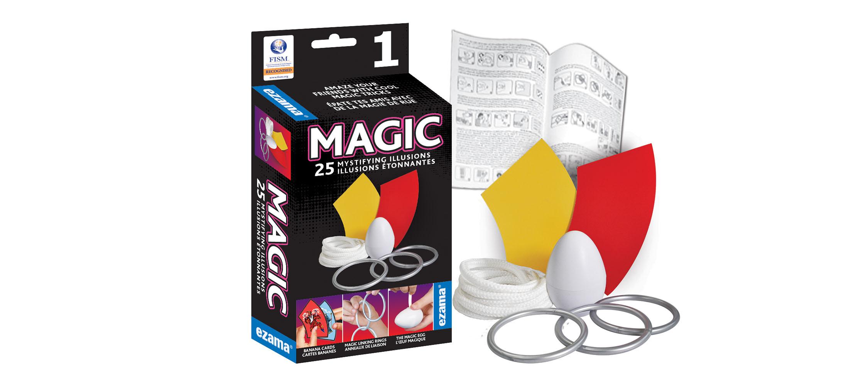 Ezama - Ensemble de Magie 25 illusions étonnantes  1 Version bilingue