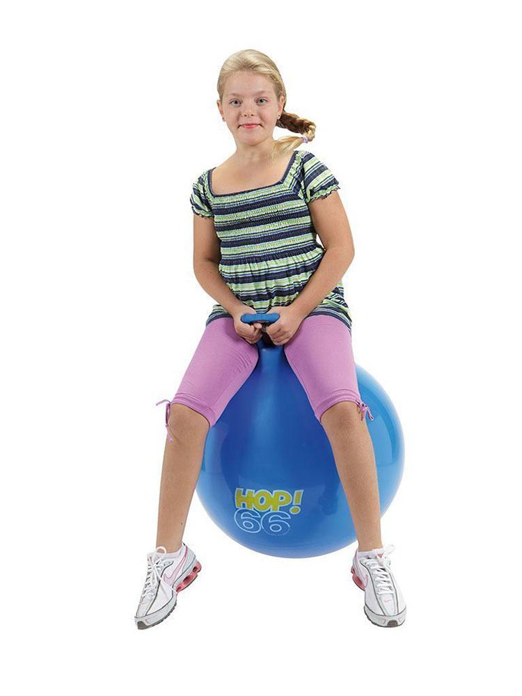 Ballon sauteur Hop 66 cm - Bleu