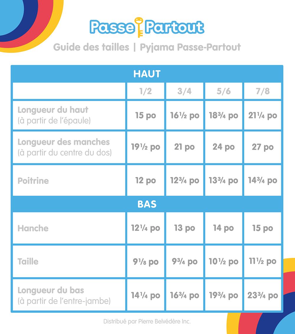 Passe-Partout - Pyjama Passe-Partout 7-8 ans