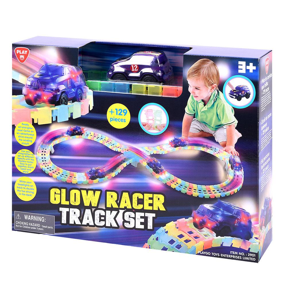Playgo - Piste de course néon 129 pièces
