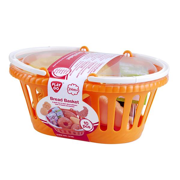 Playgo - Panier de pain et pâtisseries 10 pièces