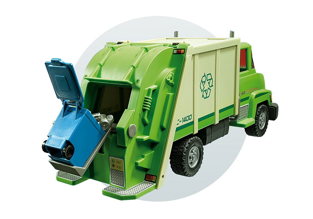 City Life - Camion de recyclage vert