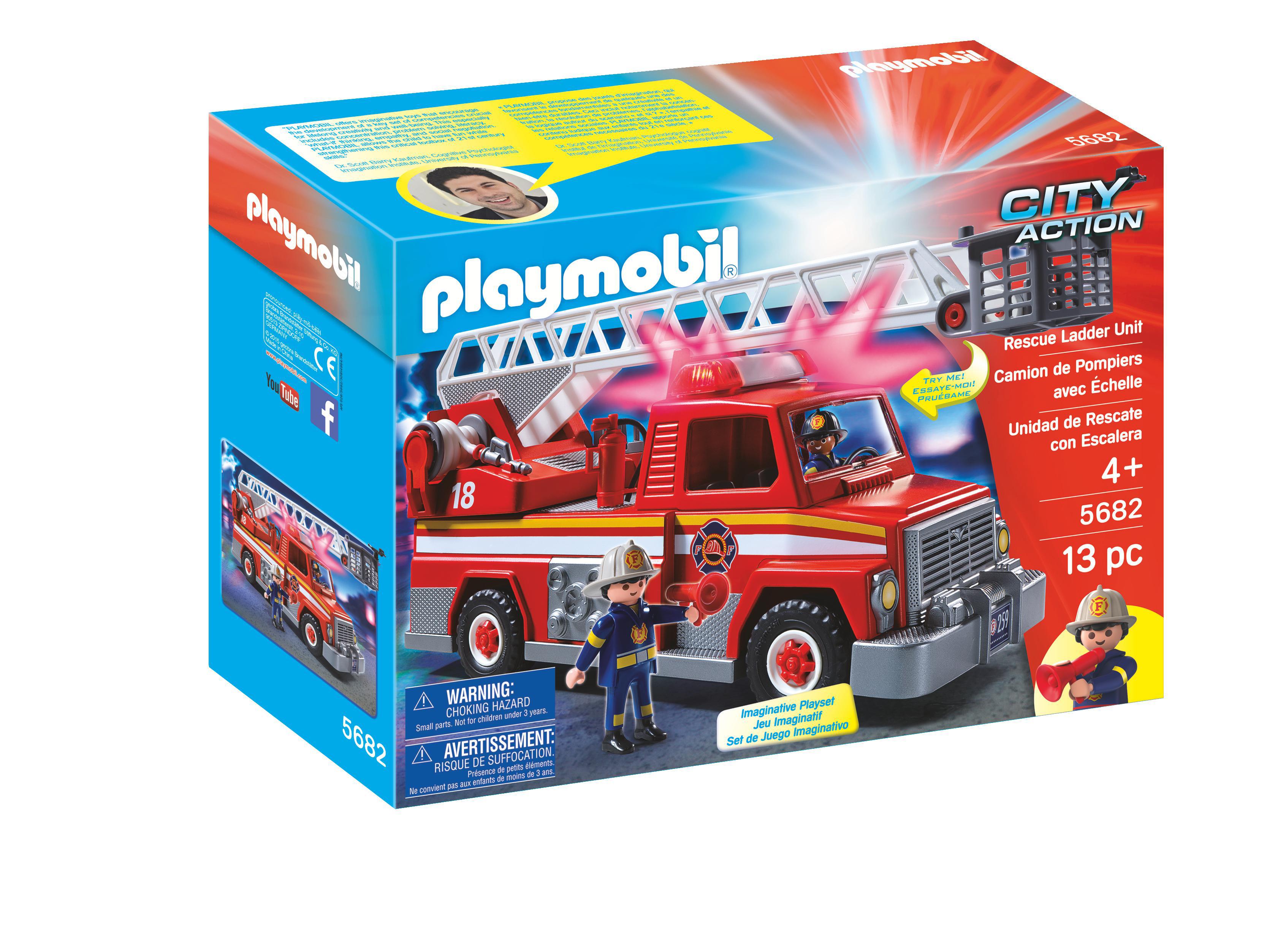 Avec De Échelle Pompier Action City Camion VpSzUM