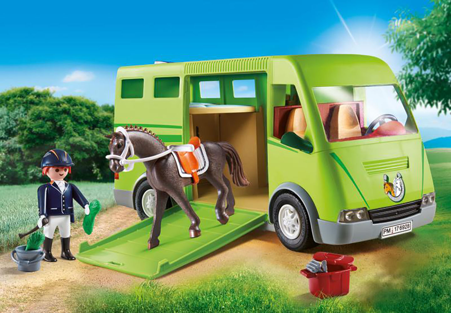 Country - Cavalier avec van et cheval