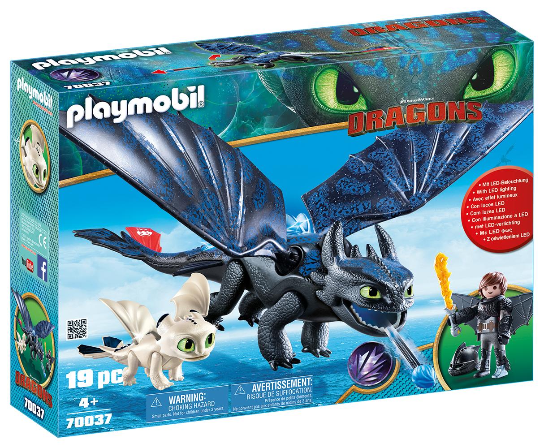 Dragons - Krokmou et Harold avec bébé dragon