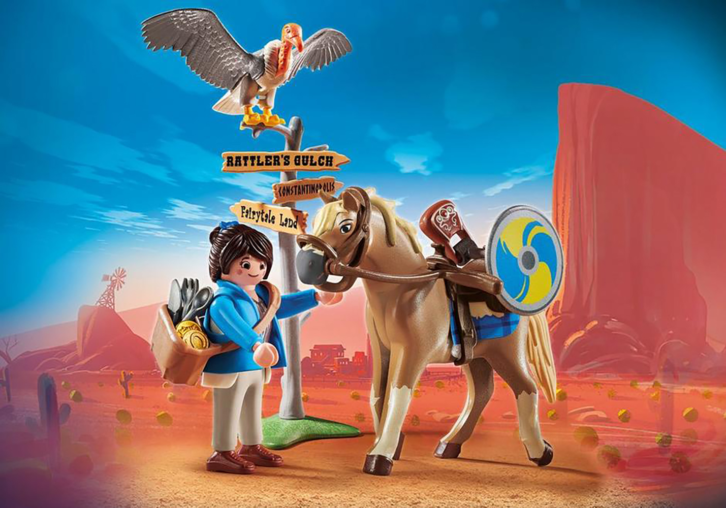 Playmobil The Movie Marla avec cheval