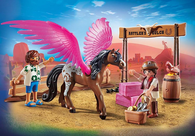 Playmobil The Movie Marla et Del avec cheval aile