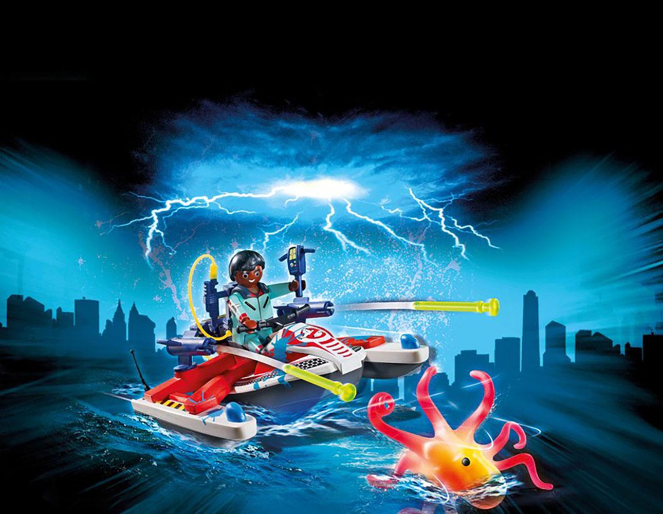 Ghostbusters - Zeddemore avec scooter des mers