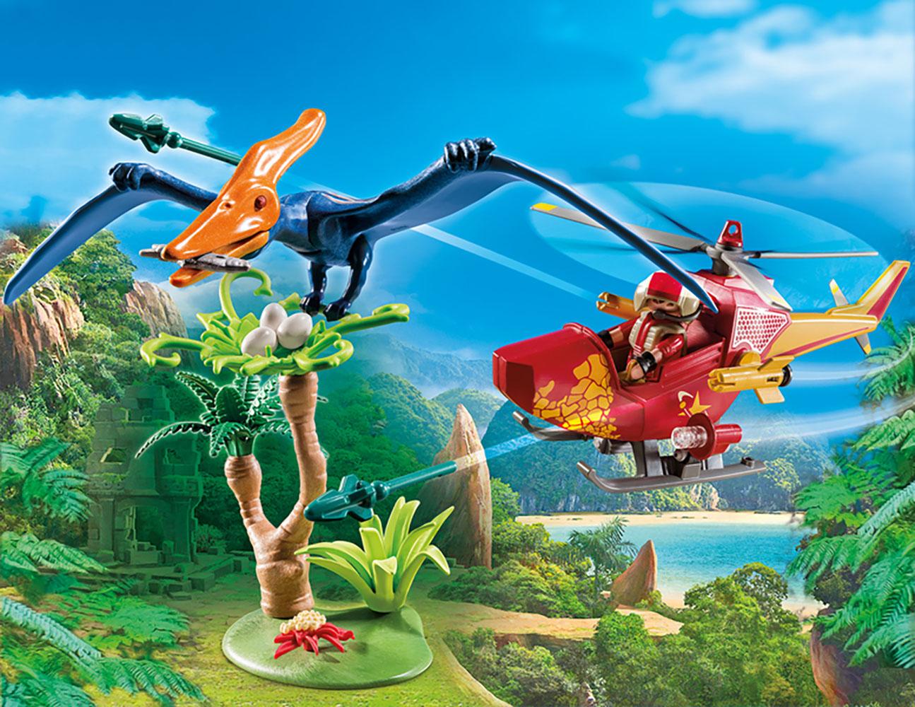 The Explorers - Hélicoptère et ptéranodon
