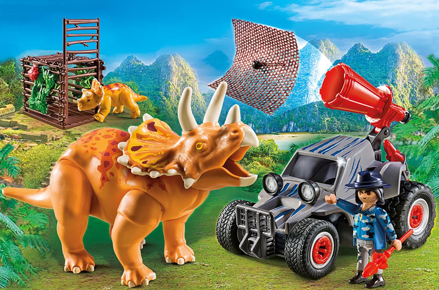 The Explorers - Bandit avec tricératops