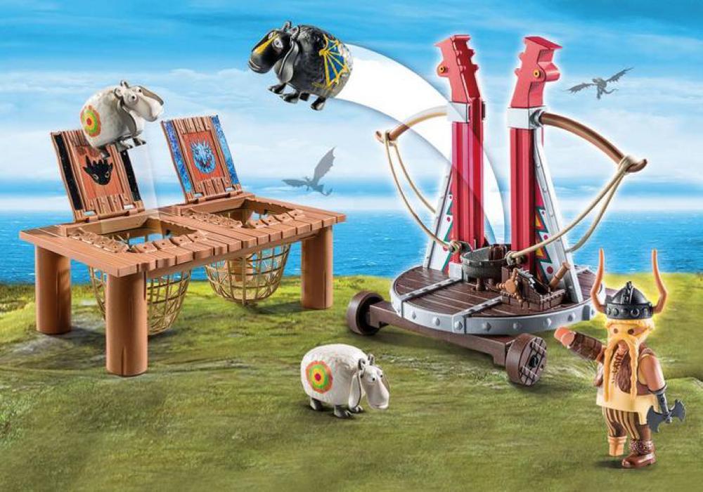 Dragons - Gueulefor avec baliste lance-mouton