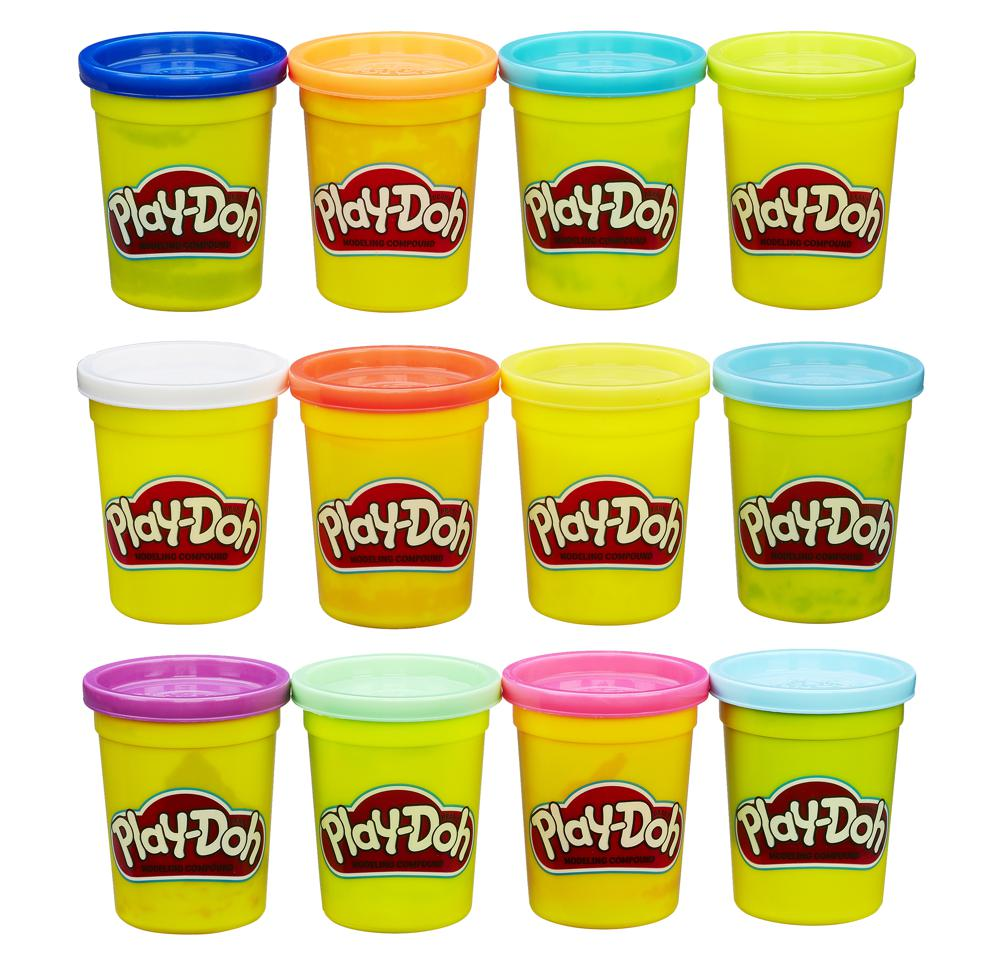 Play-Doh 4 pots de pâte à modeler 3 ensembles assortis