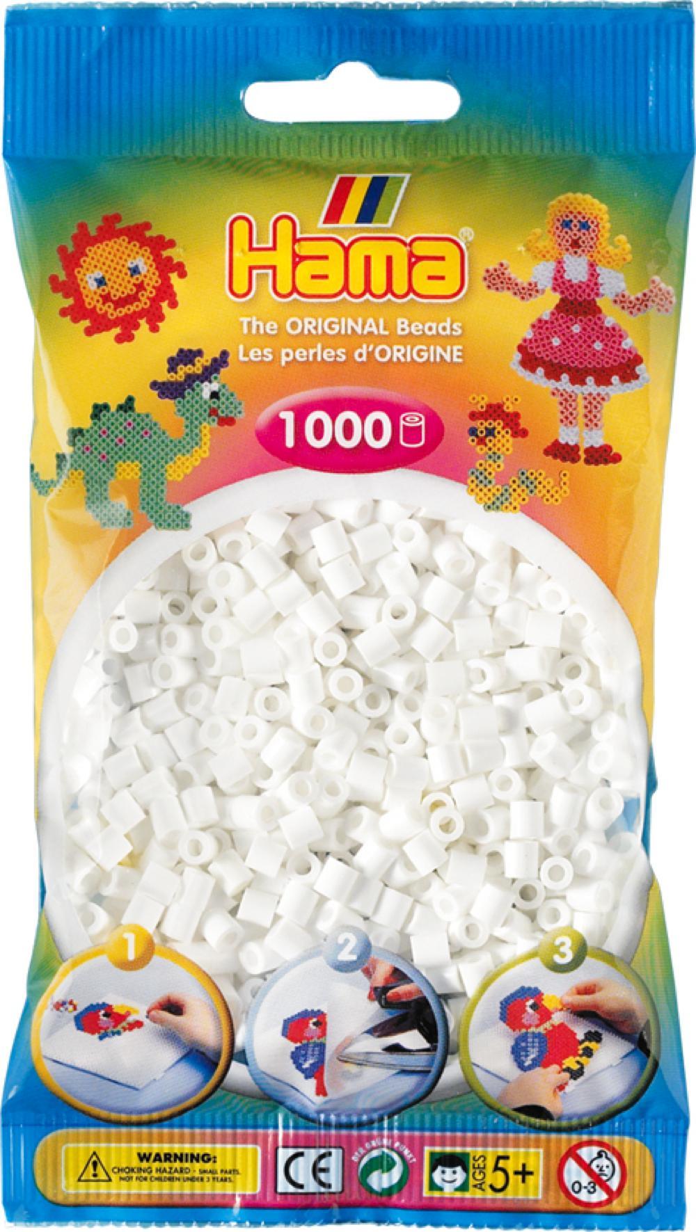 Hama - Sac 1000 perles blanches