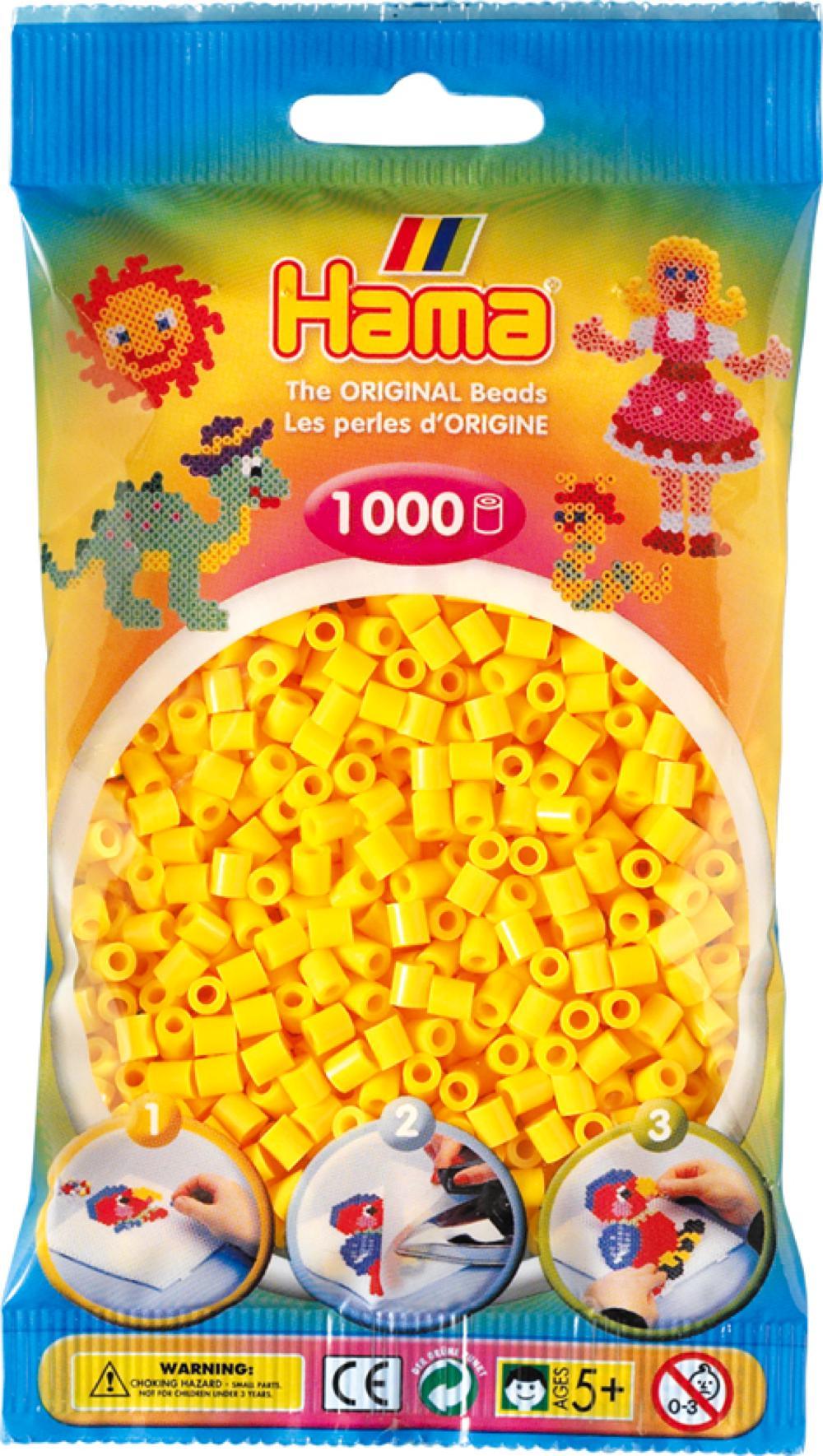 Hama - Sac 1000 perles jaunes