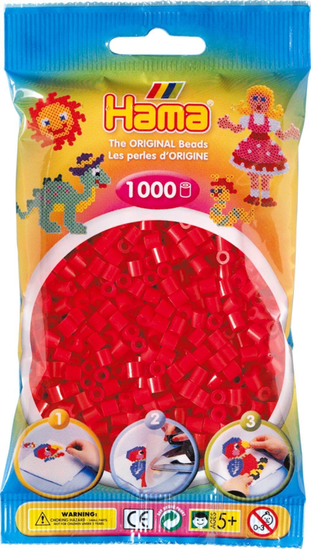 Hama - Sac 1000 perles rouges