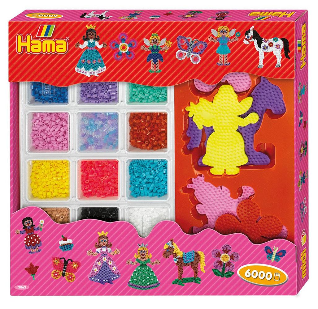 Hama - Boîte cadeau géante 6000 perles Princesses