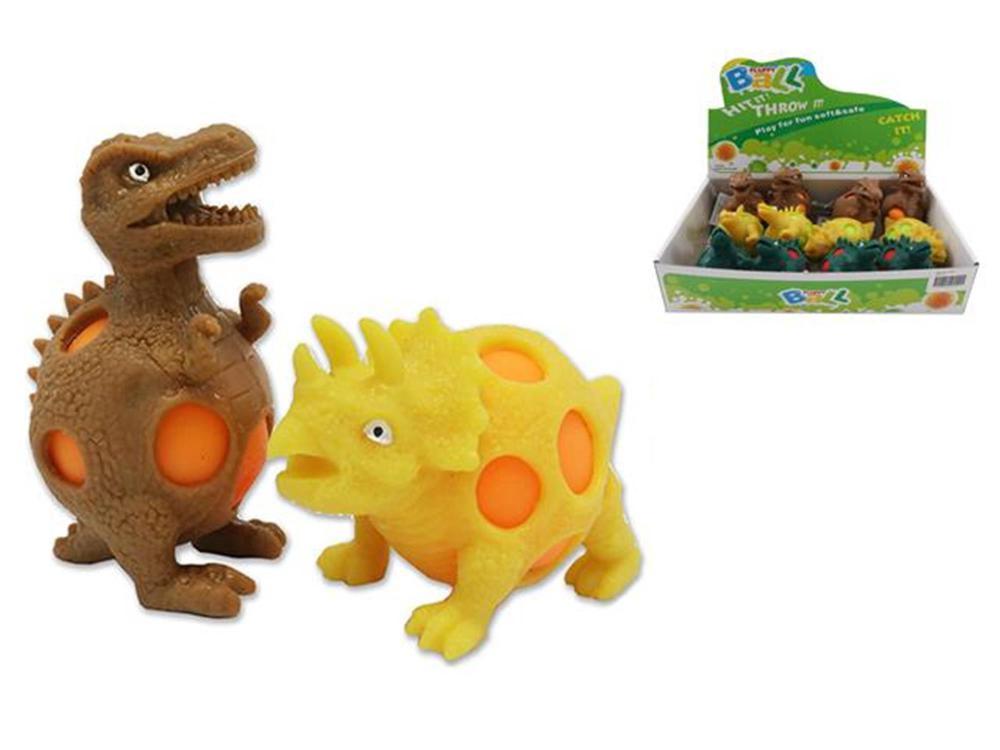 Balle antistress dinosaure assorties