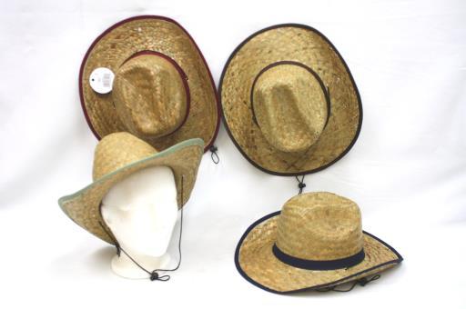 Chapeau de Cowboy beige avec ruban brun