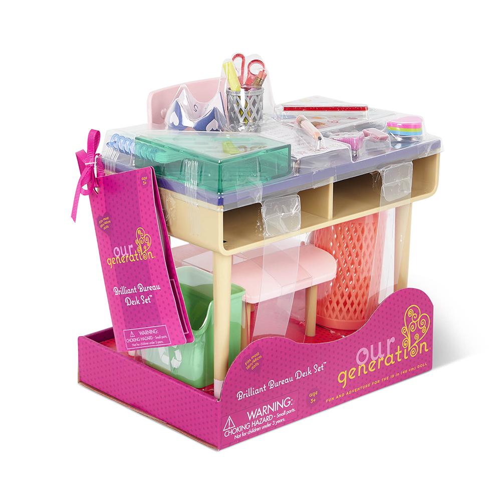 Accessoires OG -Brilliant Bureau Desk Set pour poupée de 46 cm