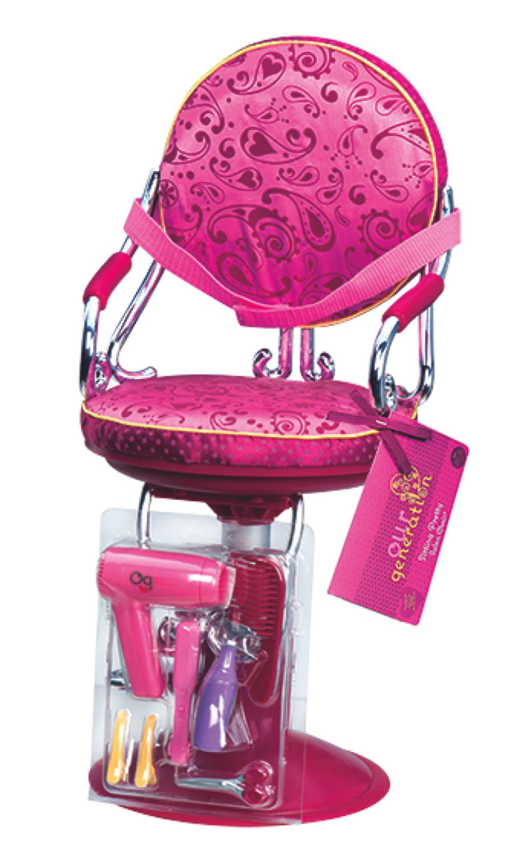 Chaise de coiffeur pour poup e 45 cm club jouet achat Chaise pour coiffeuse