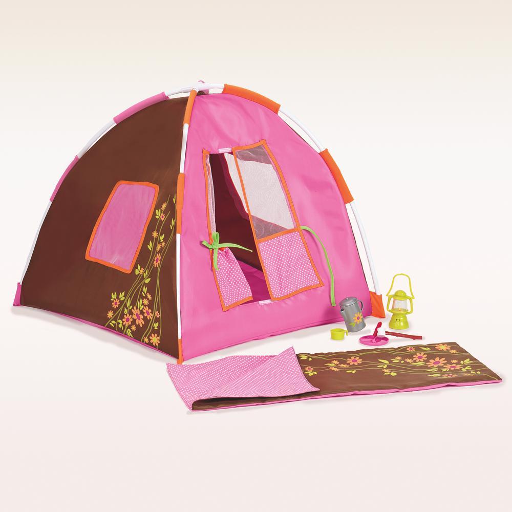 Accessoires OG - Ensemble camping à pois pour poupée de 46 cm