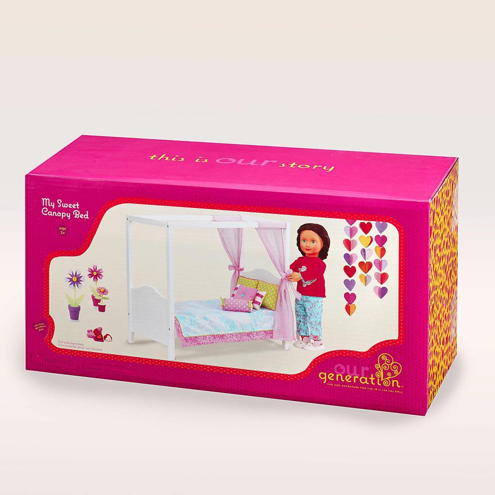 Accessoires OG - Lit baldaquin Sweet Canopy Bed pour poupée de 46 cm