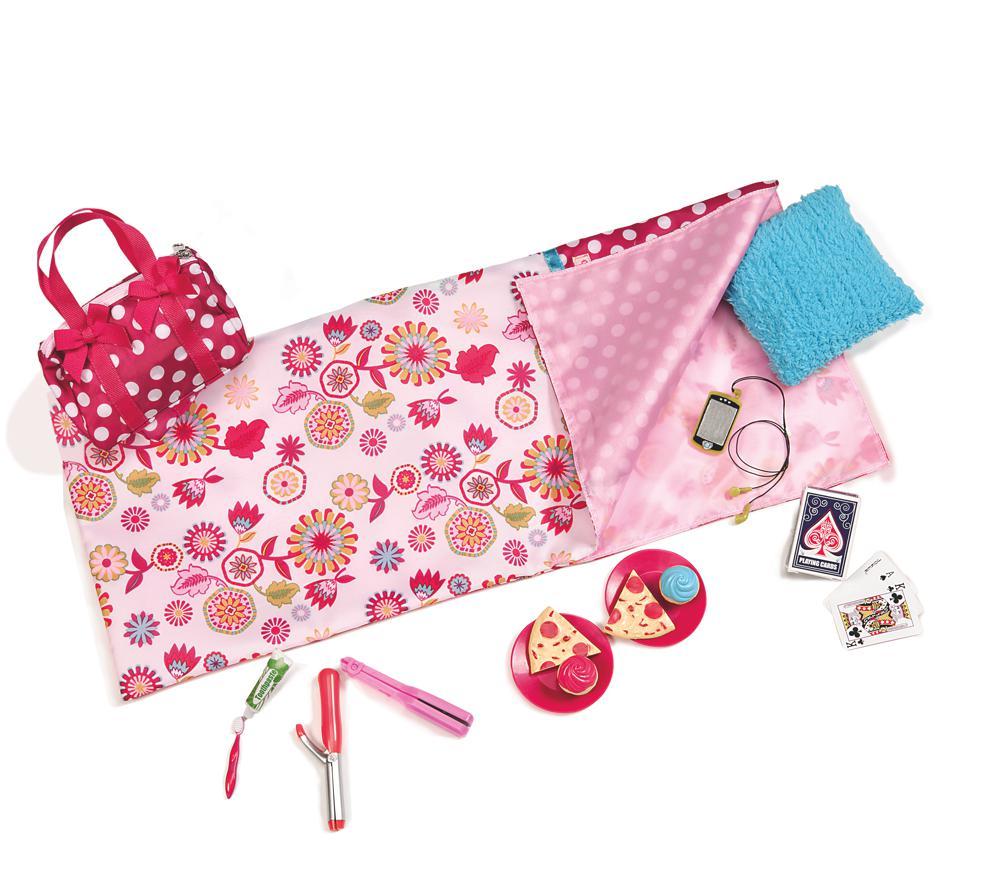 Accessoires OG - Soirée pyjama à pois pour poupée de 46 cm