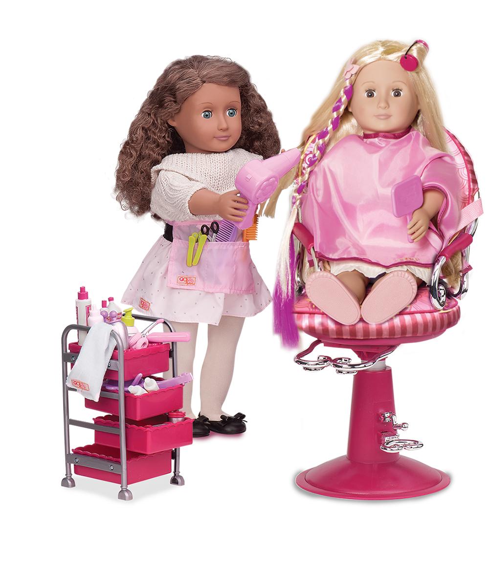 Accessoires OG - Chaise de coiffeur Sitting Pretty pour poupée de 46 cm - Corail
