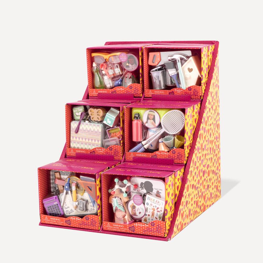 Accessoires d'école pour poupée OG de 46 cm assortis