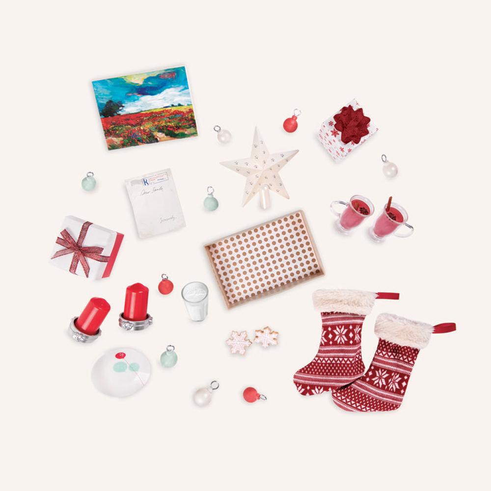 Ensemble OG - Sapin de Noël et foyer pour poupée de 46 cm
