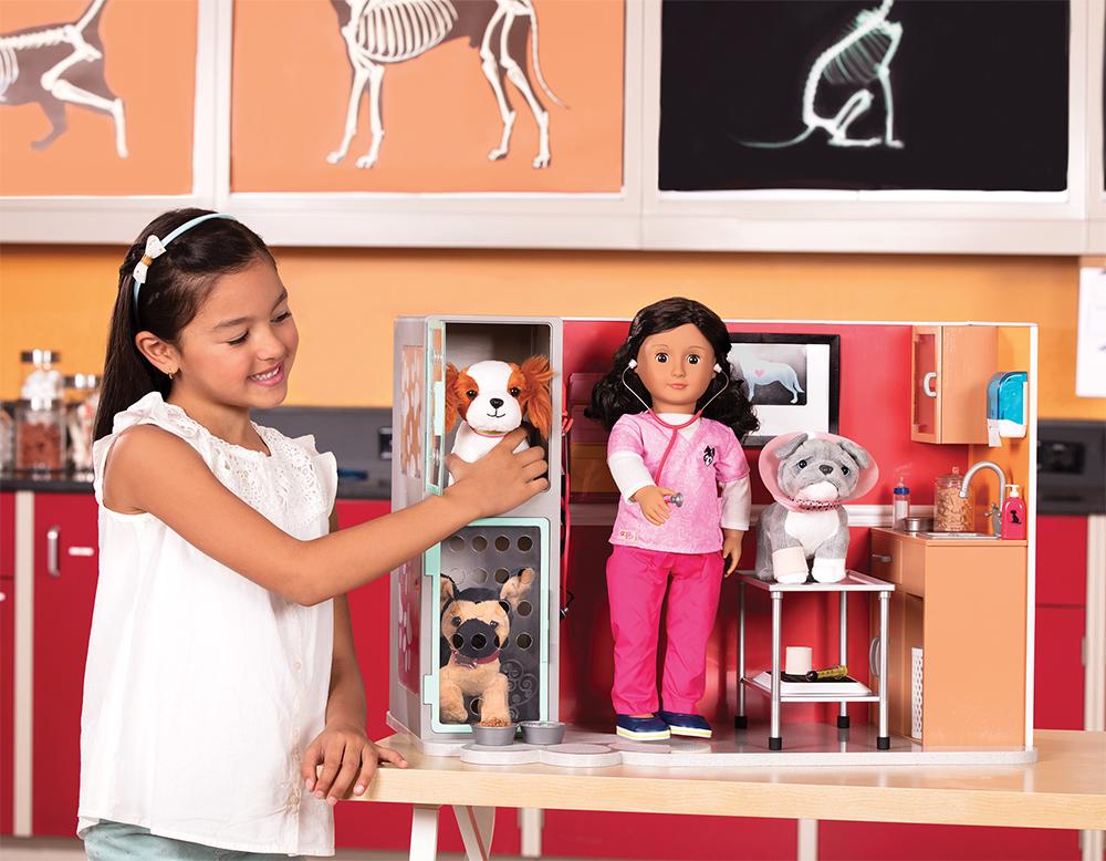 Ensemble OG - Clinique vétérinaire Healthy Paws pour poupée de 46 cm