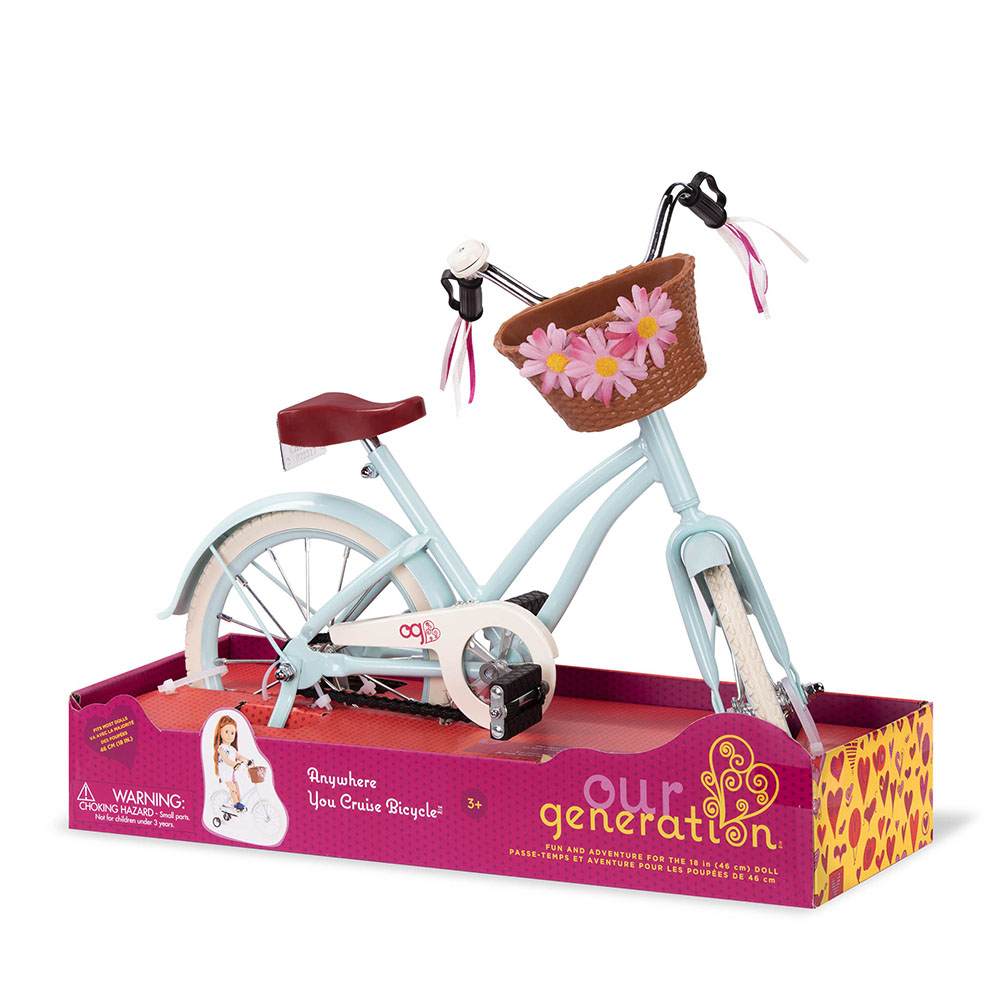 Accessoires OG - Vélo de ville Anywhere you cruise pour poupée de 46 cm