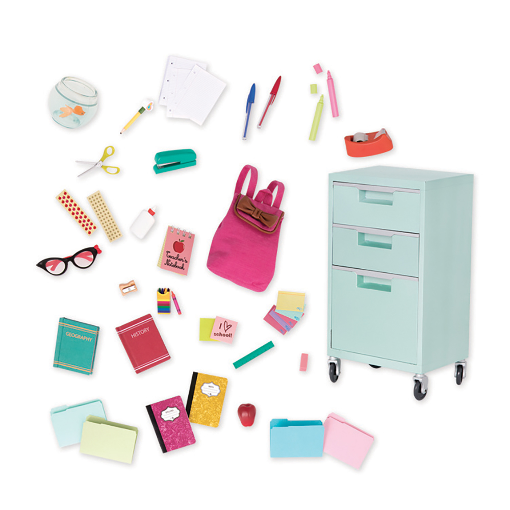 Ensemble d'accessoires de luxe OG - School Supplies Playset pour poupée de 46 cm