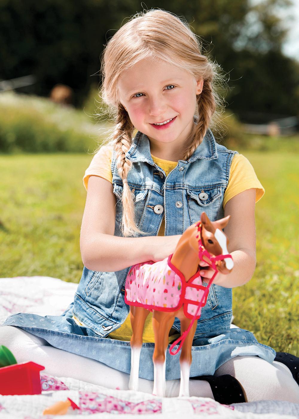 Poulain Morgan 30 cm pour poupée OG de 46 cm