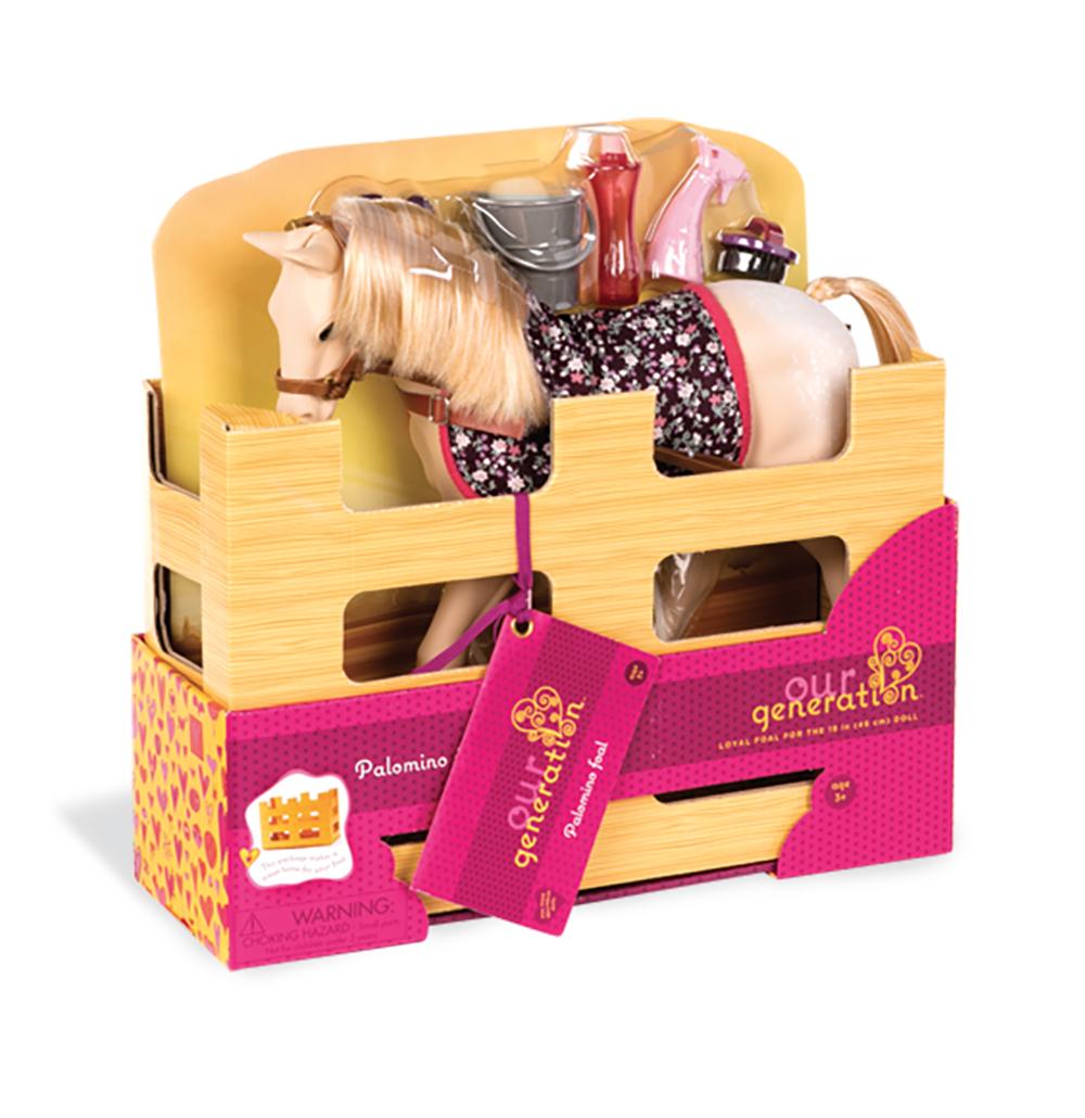 Cheval OG - Poulain Palomino 30 cm pour poupée OG de 46 cm