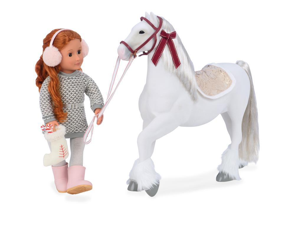 Cheval OG - Clydesdale 50 cm pour poupée OG de 46 cm