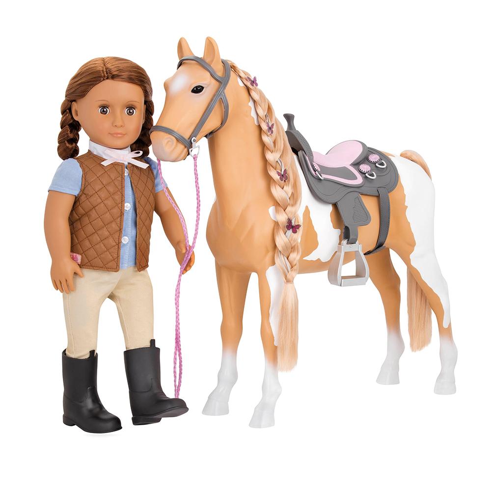 Cheval OG - Palomino Paint pour poupée de 46 cm