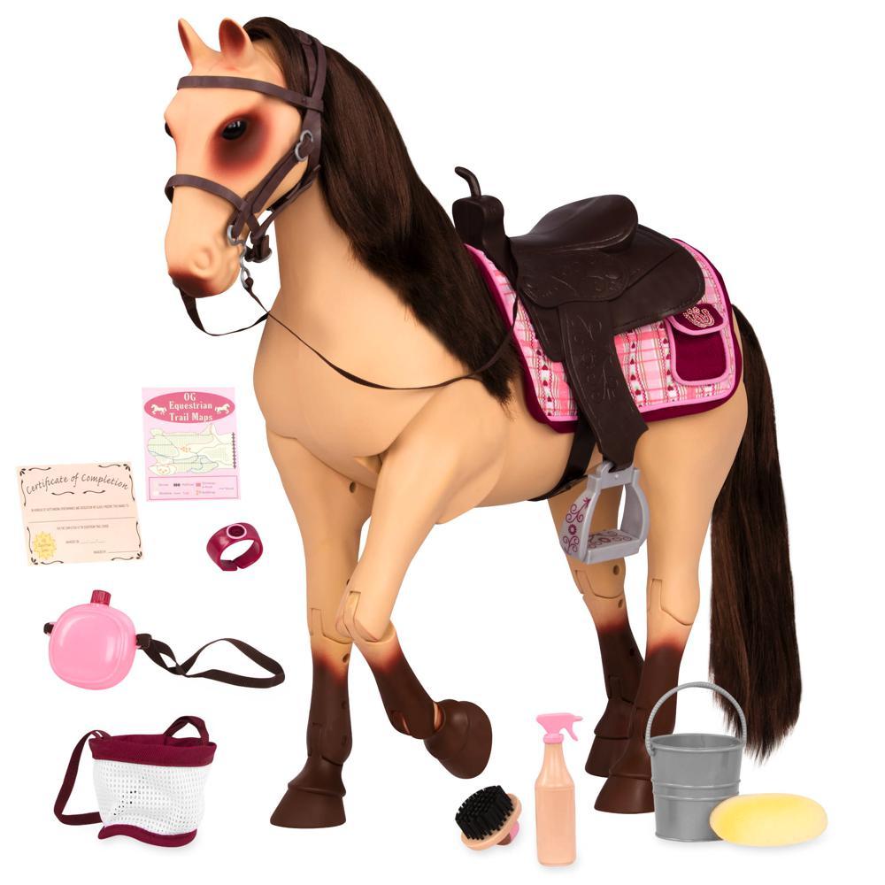 Cheval OG - Morgan cheval flexible pour poupée de 46 cm