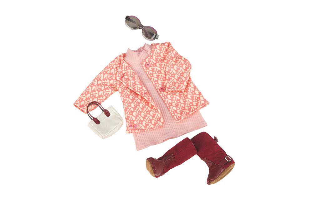 Ensemble de luxe rétro OG - Rosy Picture pour poupée de 46 cm