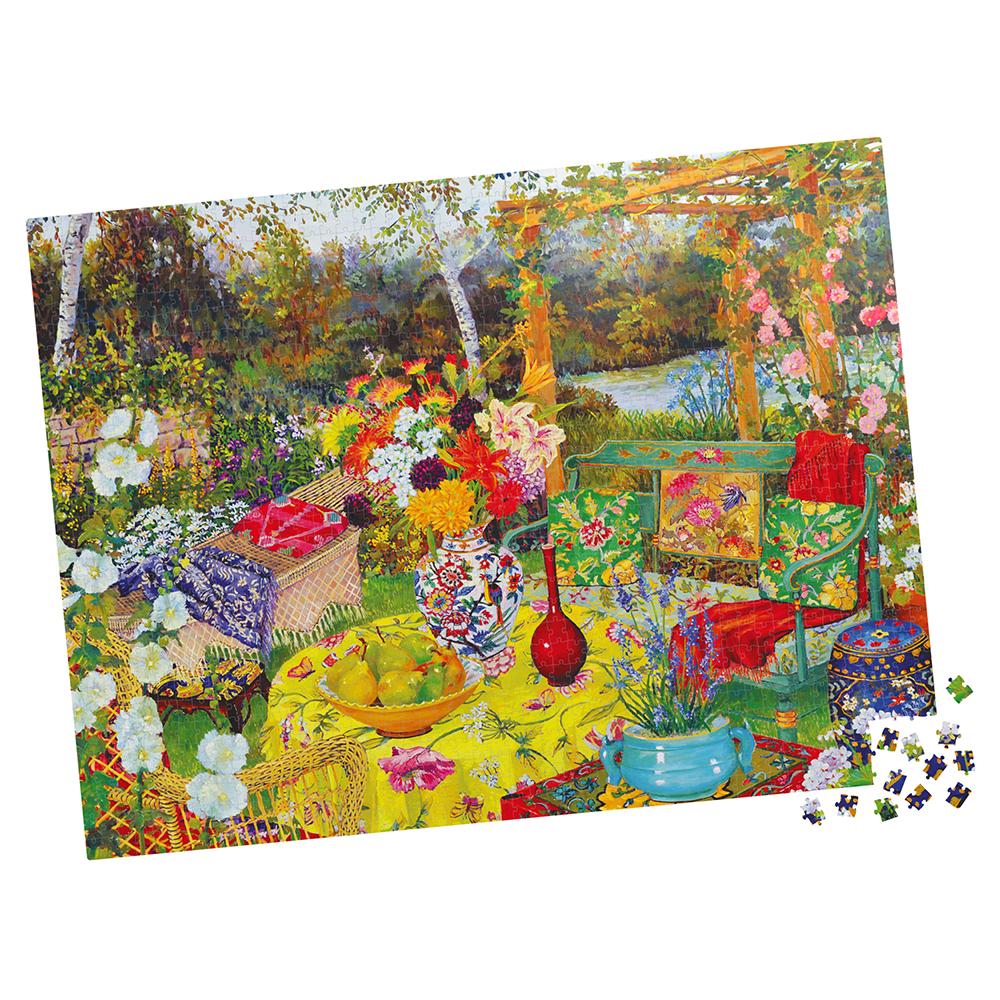 Casse-tête 1000 pièces - Milton Bradley: Lakeside Retreat