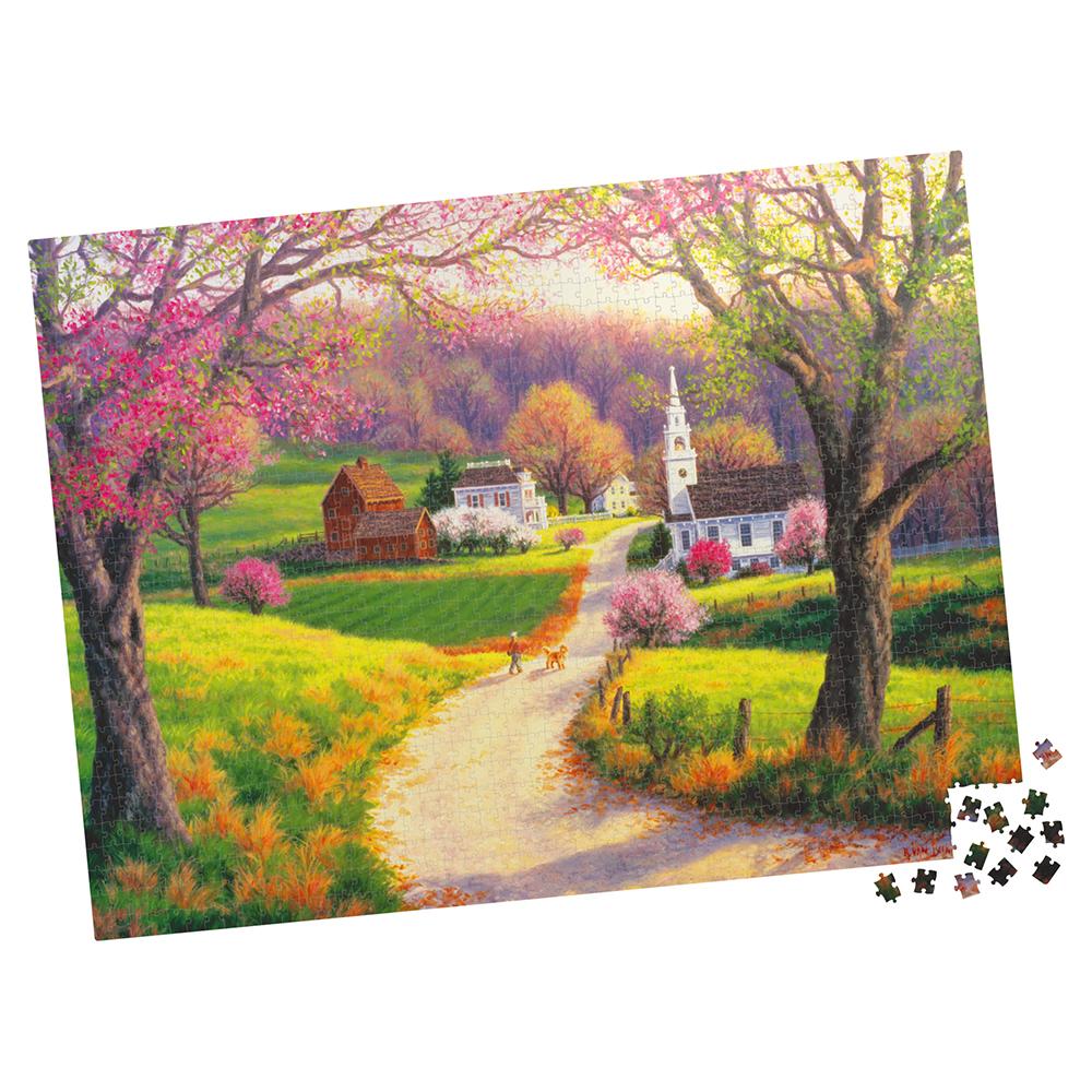 Casse-tête 1000 pièces - Milton Bradley: April Morning