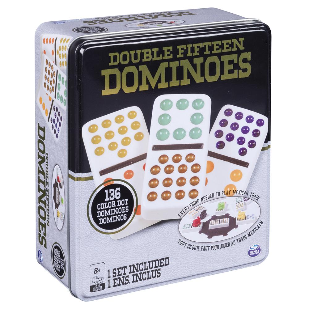 Jeu de Dominos à points de couleurs Double 15