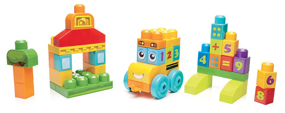 First Builders Coffret de blocs de construction Le bus des chiffres 45 pièces