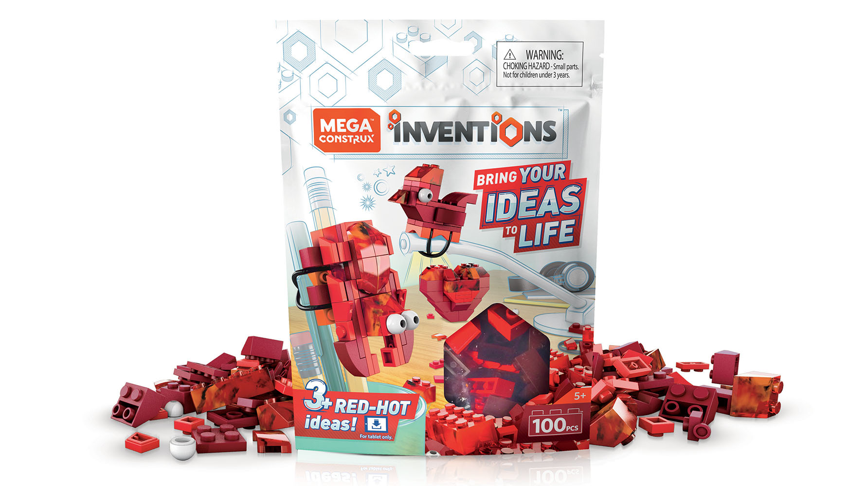Mega Construx Inventions Coffret de construction Blocs rouges