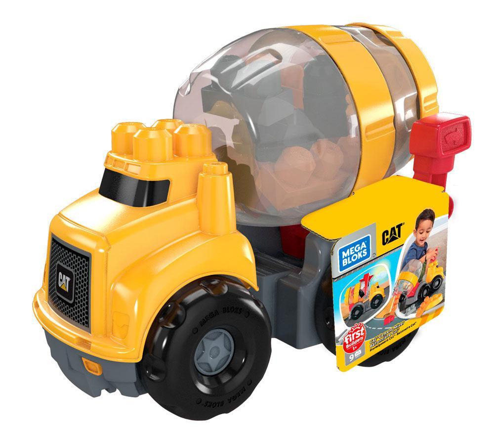 Mega Bloks - CAT Camion à ciment 10 pièces