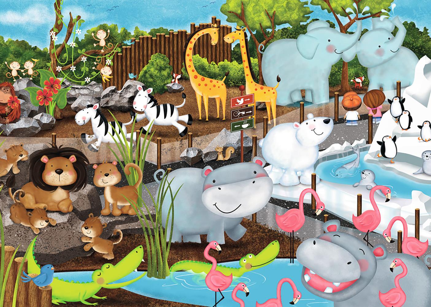 Casse-tête 35 pièces - Journée au zoo