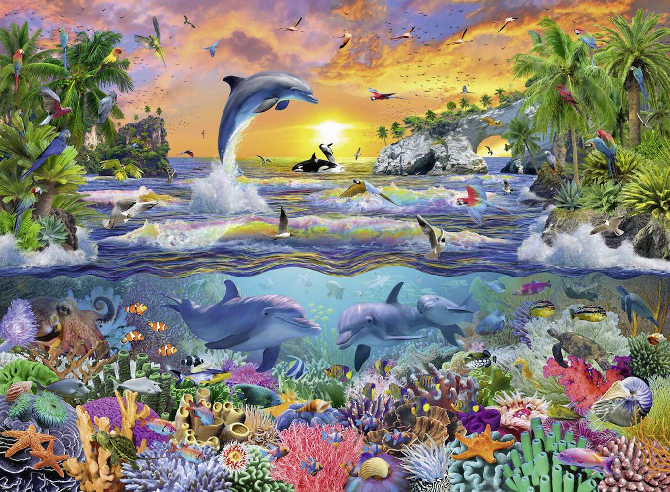 Casse-tête 100 pièces XXL - Paradis tropical