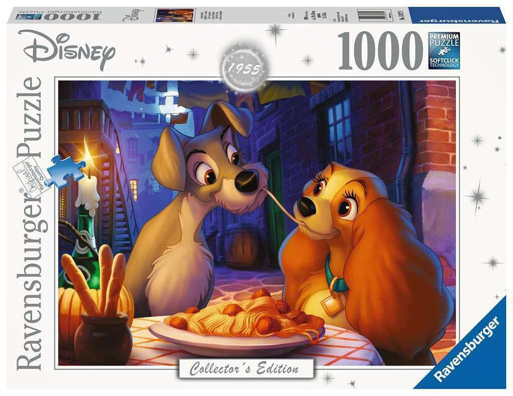 Casse-tête 1000 pièces - Disney La belle & le clochard