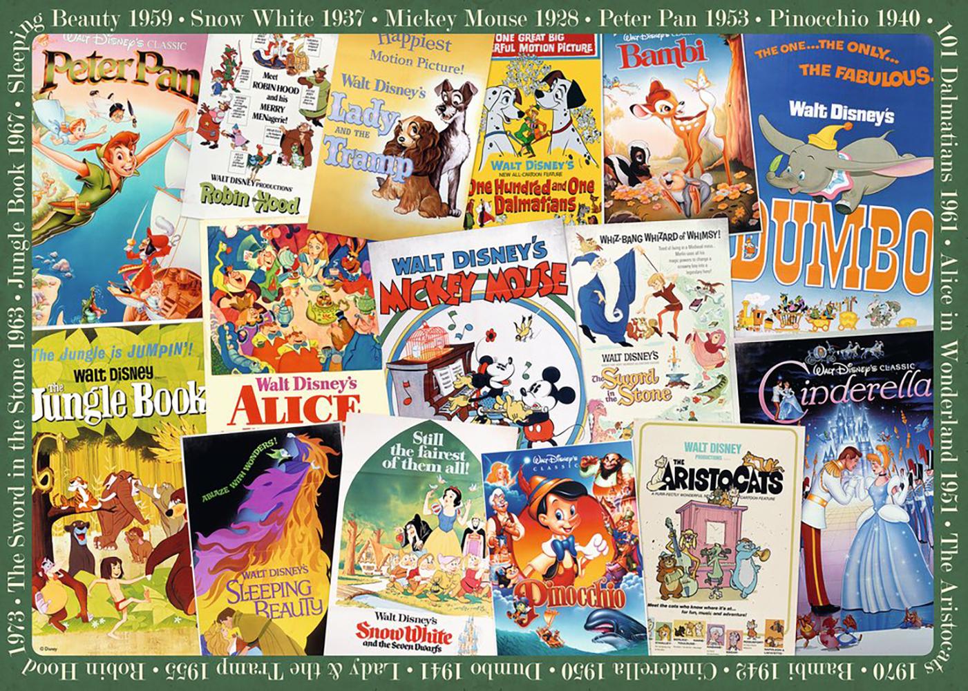 Casse-tête 1000 pcs - Poster Vintage Disney