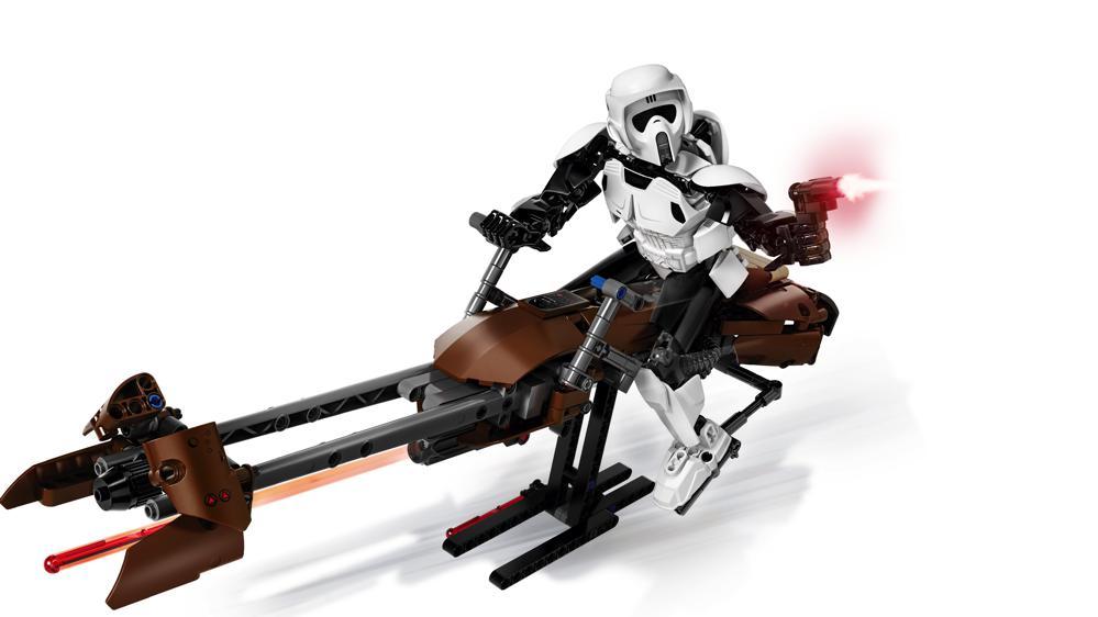 Star Wars - Scout Trooper et Speeder Bike